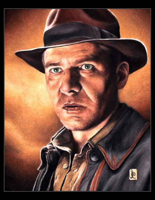 harrisonfordindianajones1 600x776 Artist to Watch | Louis Sollune and his Fanatical Portraits