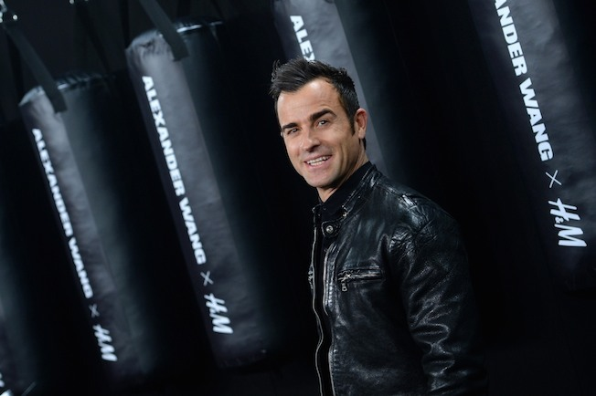 NEW YORK, NY - OCTOBER 16:  Actor Justin Theroux attends the Alexander Wang X H&M Launch on October 16, 2014 in New York City.  (Photo by Dimitrios Kambouris/Getty Images for H&M)