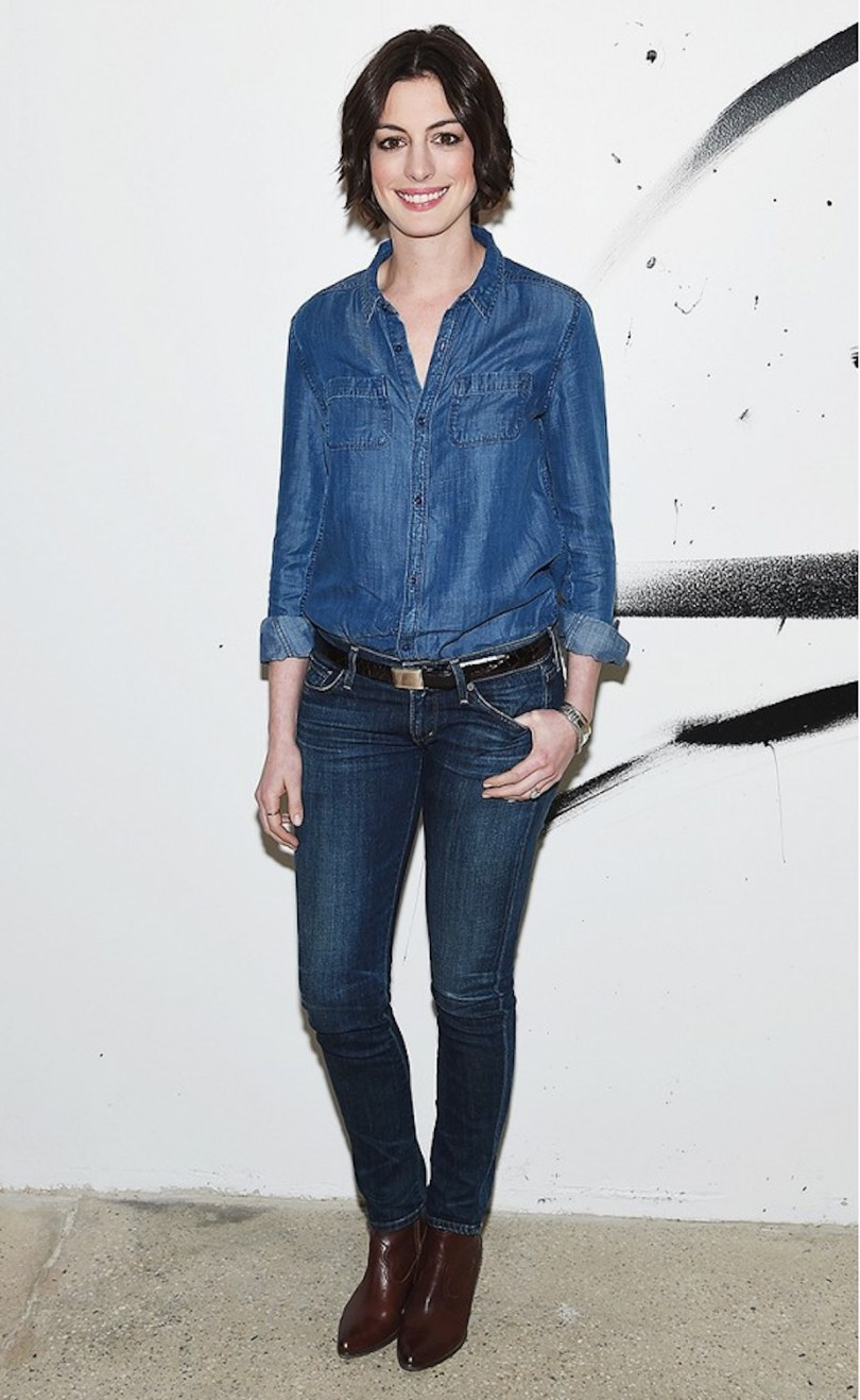 14_The_Garage_Starlets_Denim_On_Denim_Trend_Spring_Summer_2015_Anne_Hathaway