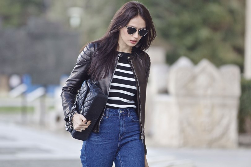 The_Garage_Starlets_Katia_Peneva_Popov_Gucci_Biker_Jacket_Zara_Topshop_Mom_Jeans_Chanel_Bag_Saint_Laurent_Ankle_Boots_Christian_Dior_Sunnglasses_05