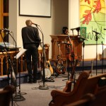 Ben fixing a sound issue (Grace Lutheran Church, Erhard, MN on Nov. 14th)