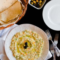 Persian Salad-e-Olivieh with Taftoon Bread