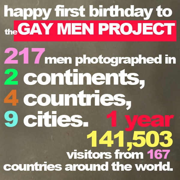 Happy Birthday to the Gay Men Project