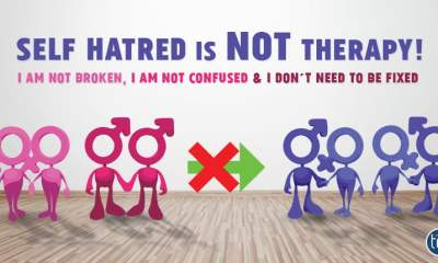 self hatred is not therapy - conversion therapy is wrong