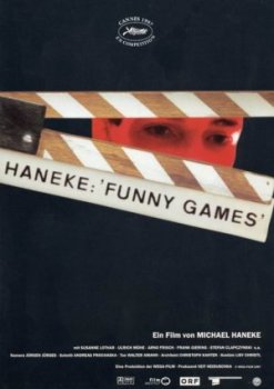 Funny Games (1997) movie poster - Michael Haneke - violence, fiction, reality, media
