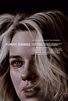 Funny Games (2007) movie poster - Michael Haneke - violence, fiction, reality, media