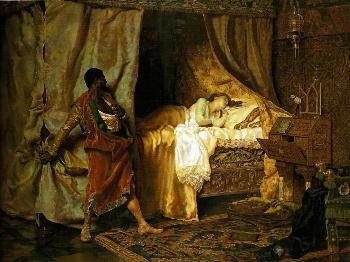 Otelo e Desdémona by Antonio Muñoz Degraín - Othello - William Shakespeare - Iago, race