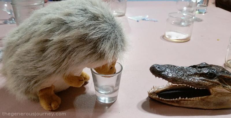 Al telling a hedgehog he's had enough  © Paul H. Byerly