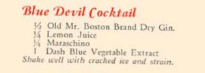 1934 Mr Boston - Blue Devil Cocktail