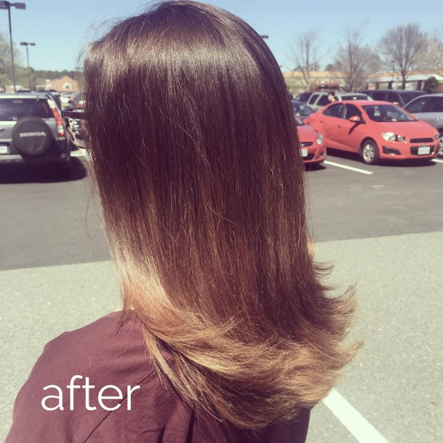 stefanie ramos hair cuttery after