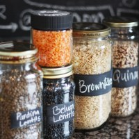 DIY Mason Jars with Chalkboard Labels