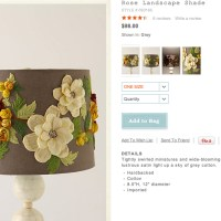 DIY Anthropologie Inspired Floral Lamp Shade