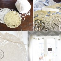 Holiday Doily Garland