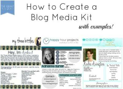 How to Make a Blog Media Kit - The Grant Life