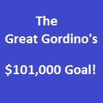 The Great Gordino's $101,000 Goal