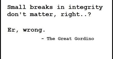 """Gordon Bryan"", ""integrity"","