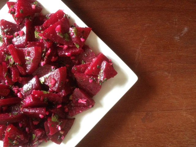 traditional Greek beet salad