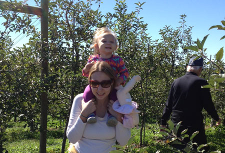 green diva Carly & lil green diva Vivi enjoying our farm excursion