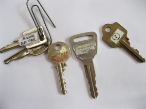 A small part of Dad's keys and YES! those ARE keys to my first car - A Buick Skyhawk circa 1982- long gone!