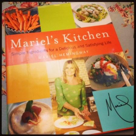Mariel Hemingway's cookbook Mariel's Kitchen