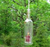 GD Mizar's re-purposed wine bottle lantern