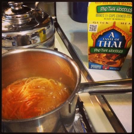 GD Meg's pad thai noodle preparation