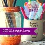 green divas DIY: glitter jars image