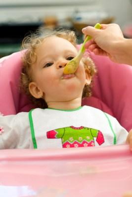 feeding baby gerber