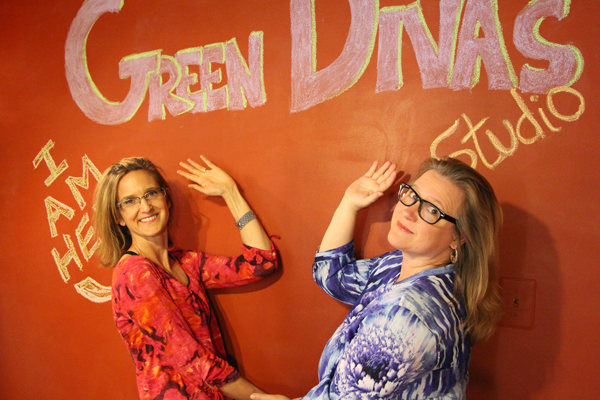 Green Divas Lynn & Meg in Green Diva Studio
