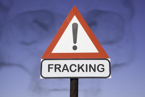 fracking sign