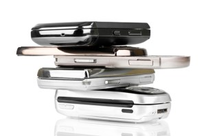 pile of cell phones e-waste