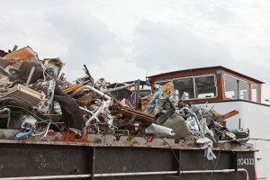 truck with e-waste electronics