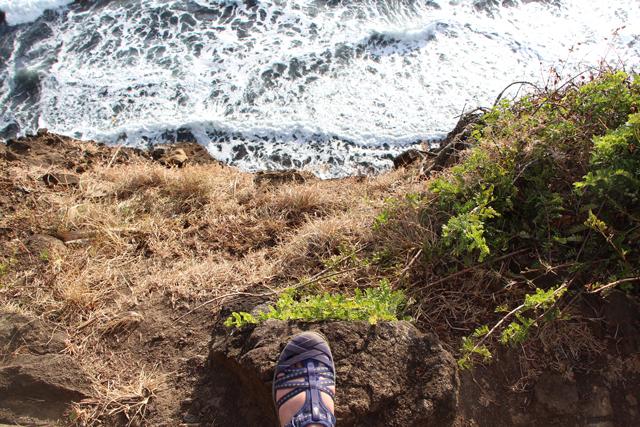 Ahnu Shoes on Hawaiian Cliff