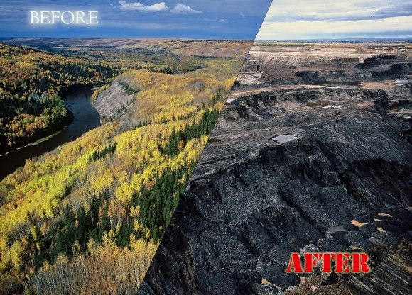 boreal forest and tarsands pipeline