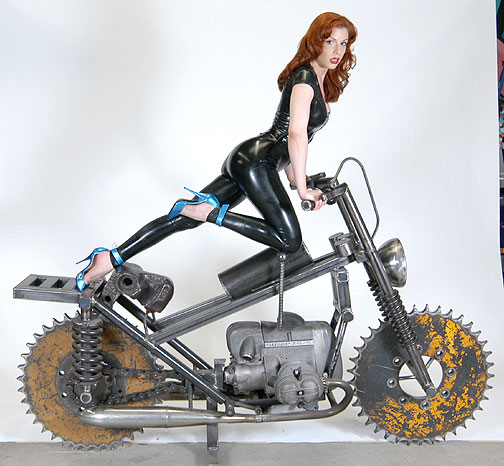 recycled motorcycle by bruce gray