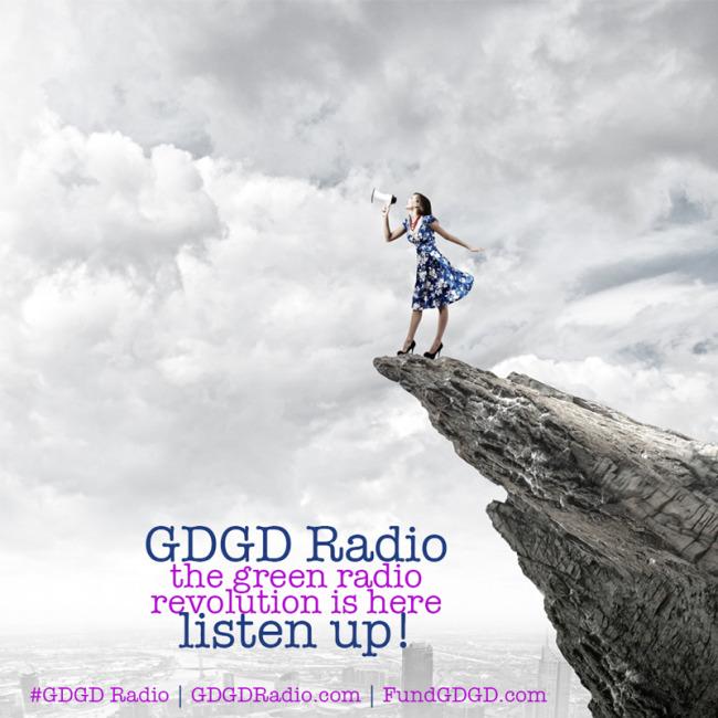megaphone girl announcing GDGD Radio