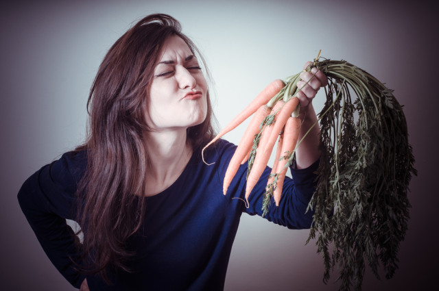 woman who loves carrots