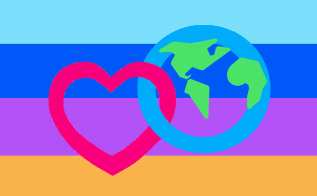Ecosexual Pride Flag - Earth as Lover