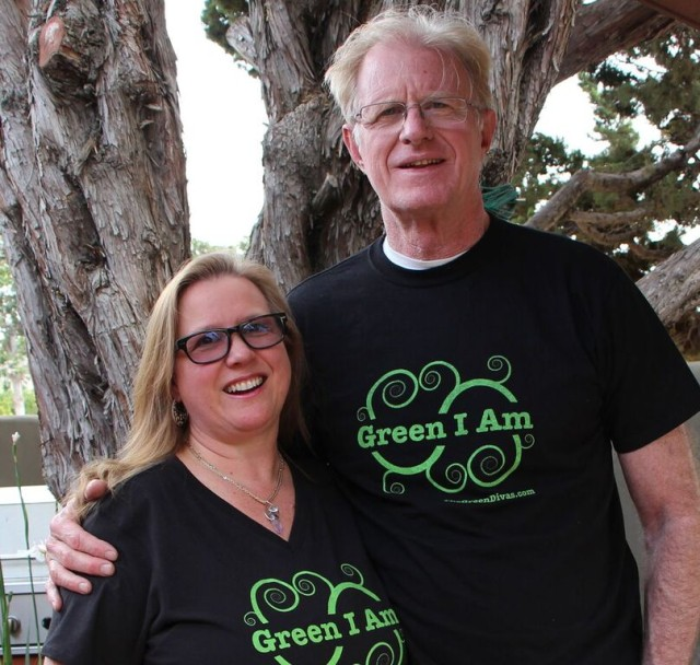 Green Diva Meg with Ed Begley