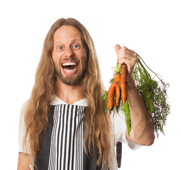 hippie green dude with carrots, a sleep superfood