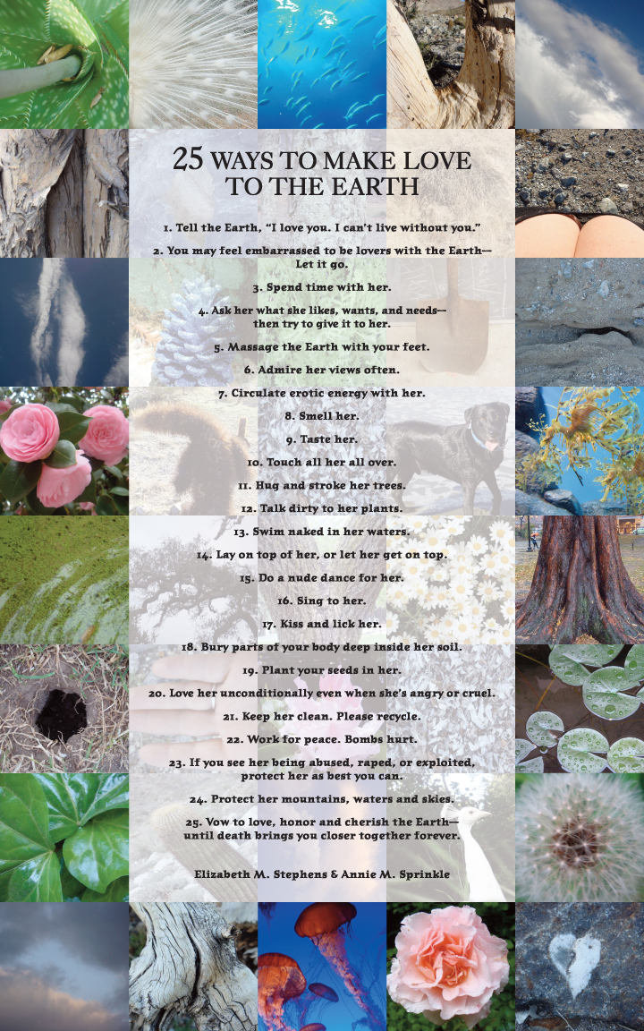 25 ways to make love to earth