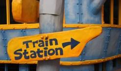 public transit train sign