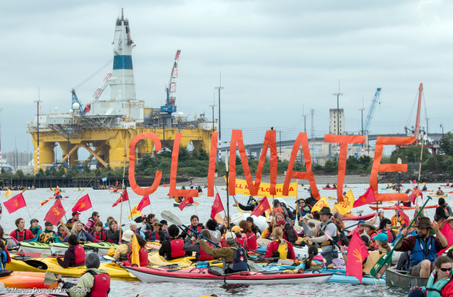 greenpeace seattle flotilla image by Marcus Donner / Greenpeace