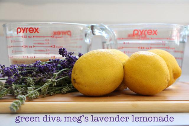 ingredients for green diva meg's lavender lemonade