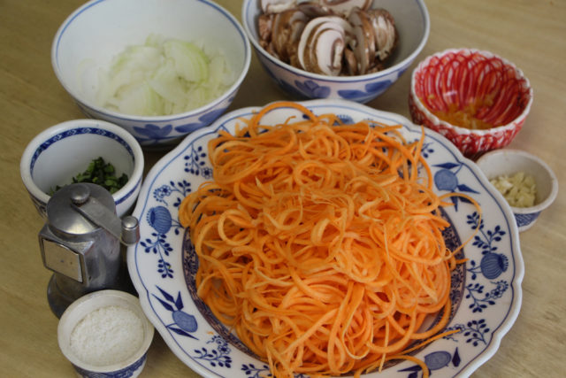 green diva meg's spiralized sweet potato noodles