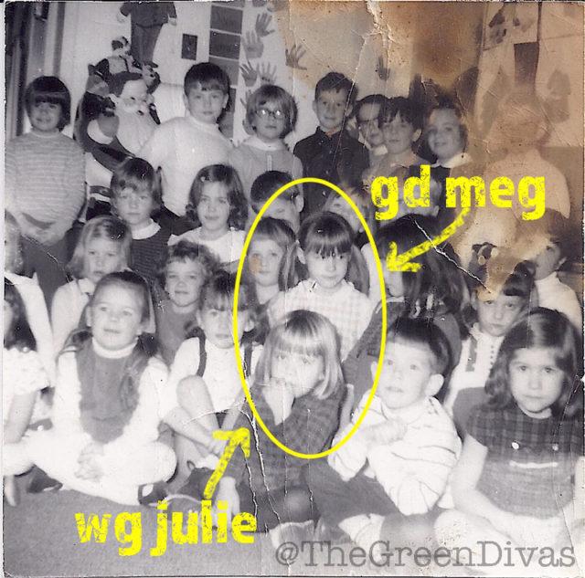 weenie greenie julie bond genovese and green diva megan mcwilliams in first grade