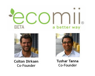 ecomii co-founders, Colton & Tushar