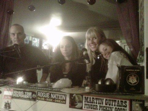 GD Scotty, Marie Elena Lamari, Cherie Corso & Julia on the air with the Green Divas