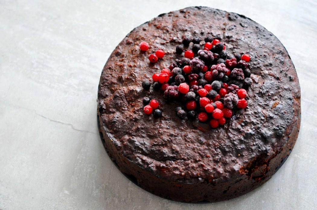 Wild Berry Chocolate Cake Christmas Dessert