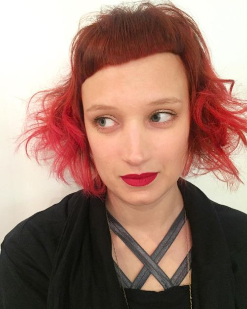 funny red ombre